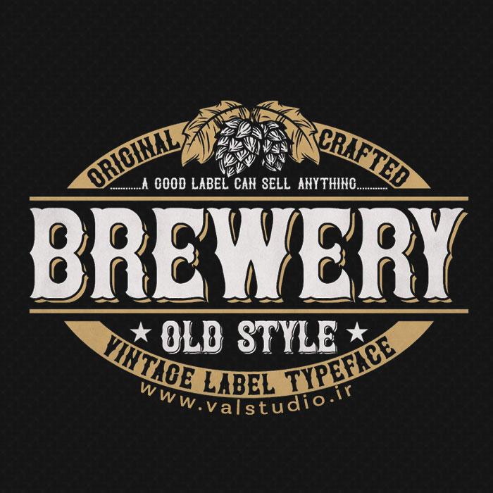 دانلود فونت انگلیسی Brewery