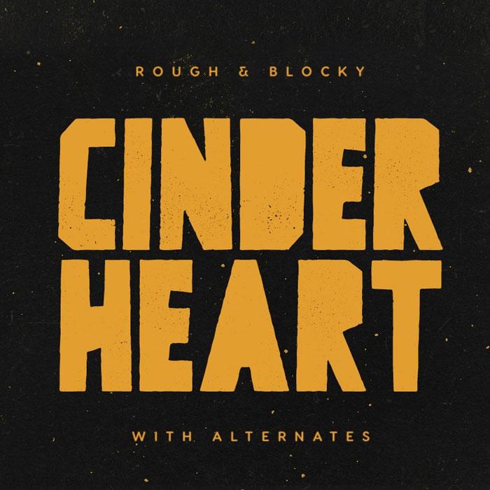 فونت انگلیسی گرافیکی Cinderheart