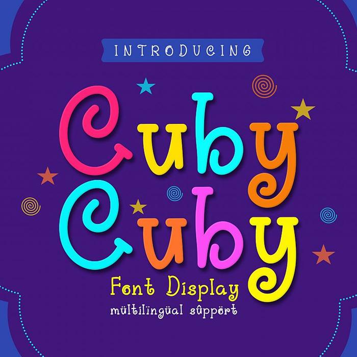 فونت فانتزی انگلیسی cuby