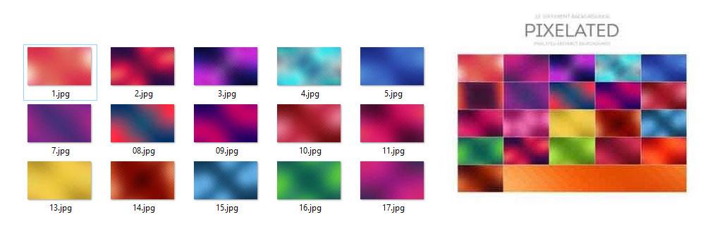 مجموعه بکگراند های Pixelated Abstract