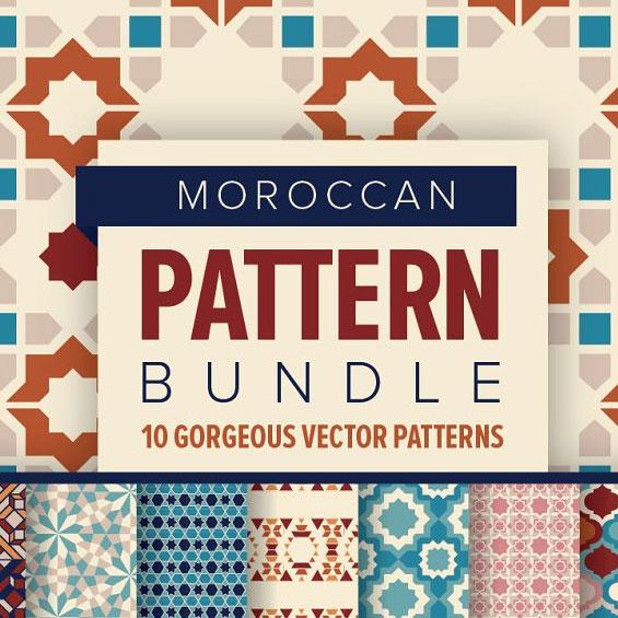 مجموعه پترن های گرافیکی MOROCCAN Pattern Bundle