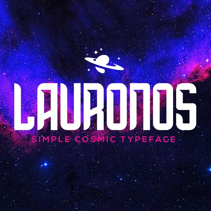 فونت انگلیسی Lauronos Typeface