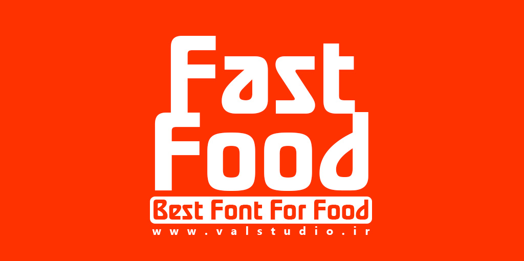 فونت انگلیسی فست فود Fast Food